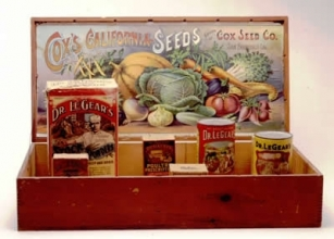 Cox's California Seeds Box, ca. 1900. Collection of the Oakland Museum of California, Museum Purchase.