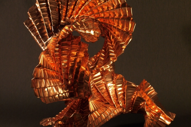 "Goran Konjevod, Infinite Twist, 2009-2011. Copper, 9"" x 8"" x 12"" Photo: Goran Konjevod"